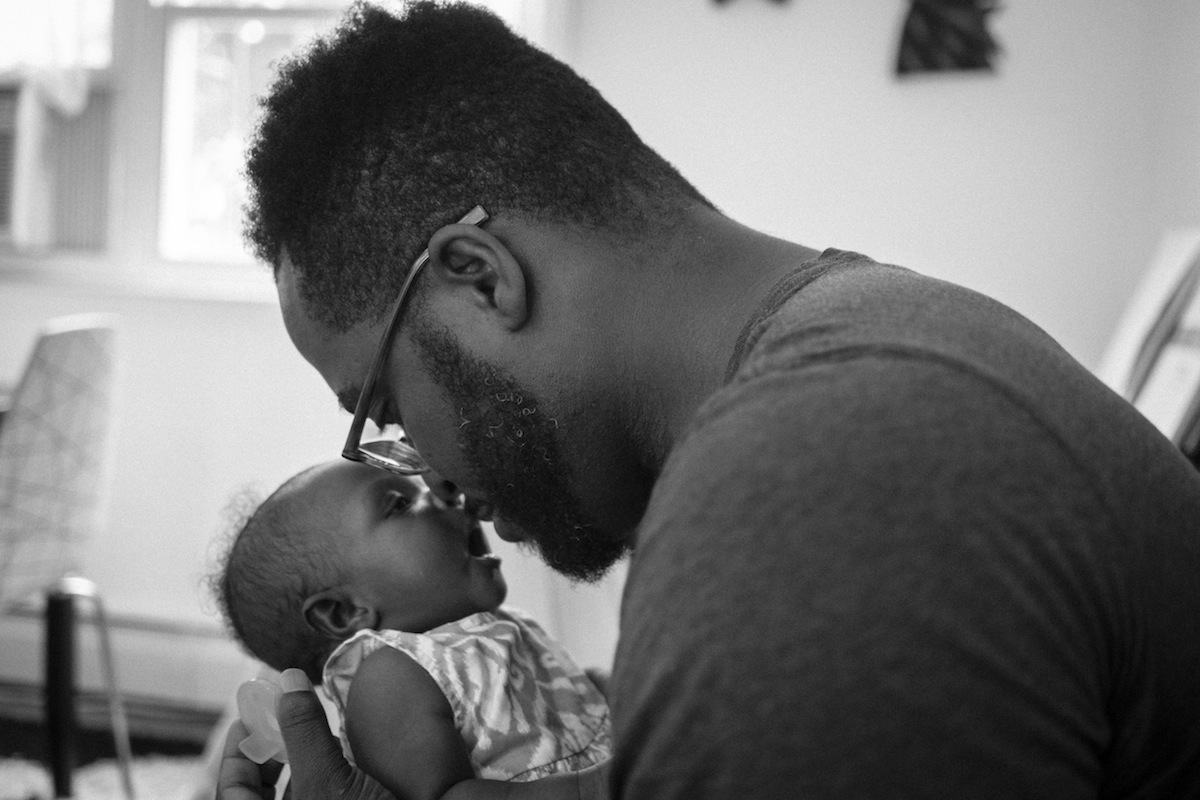 Musician ClassicBeatz with daughter