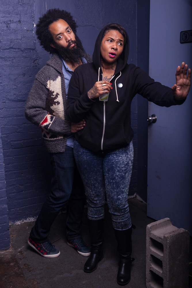 Wyatt Cenac and Jean Grae